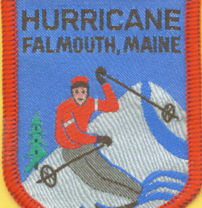 A patch from the Hurricane Ski Slope in Falmouth, which closed in the 1970s, is among the museum's artifacts.