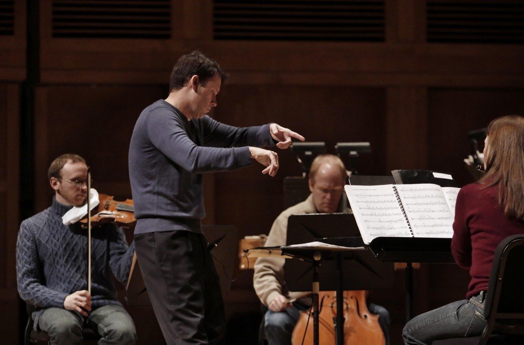 Robert Moody directs a rehearsal of the Portland Symphony Orchestra. He announced the orchestra's 2011-12 concert schedule on Thursday.