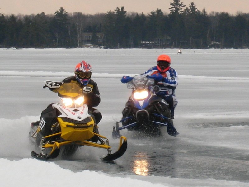 Greenville will host the Maine 100 Cross Country Snowmobile Race on March 19 on Moosehead Lake.