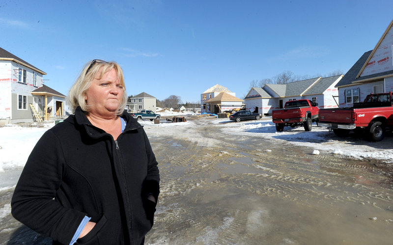Susan Duchaine is developing the Hawkes Farm community in Gorham. She said she has contracts with about 10 buyers but cannot close the deals.