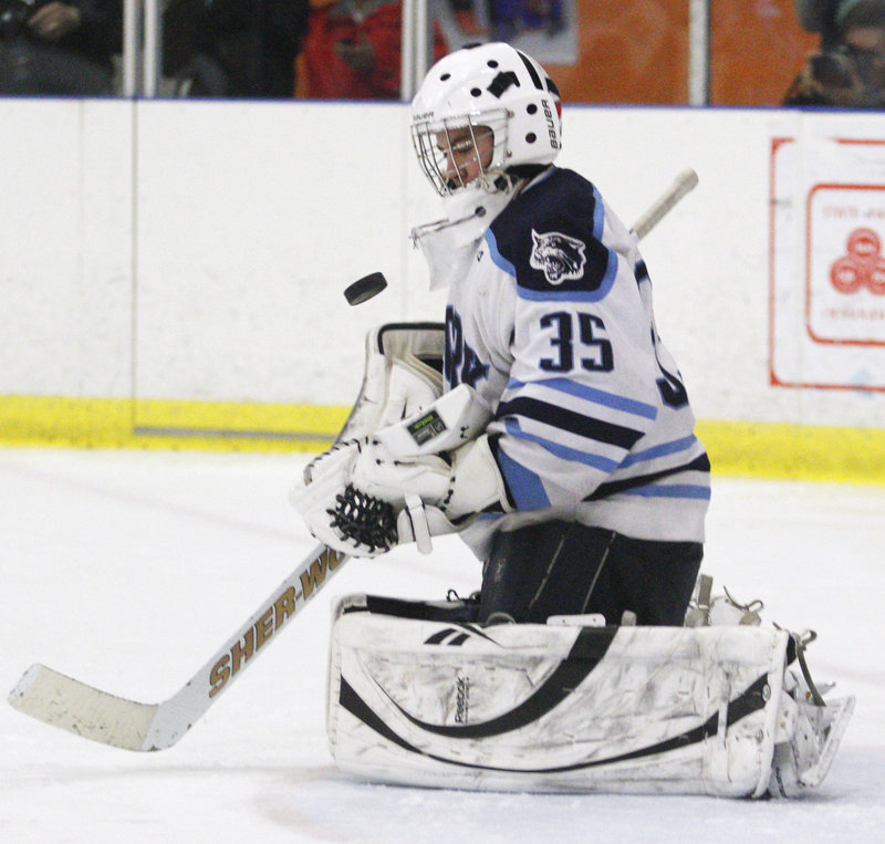 Alex Ahrikenchikh kept his eyes on the puck, his focus on the game, and in the end helped deliver a state title for York.