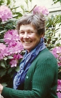 Priscilla Manter, in her garden around 1997, grew roses and hydrangeas, but especially prized a bearded iris.
