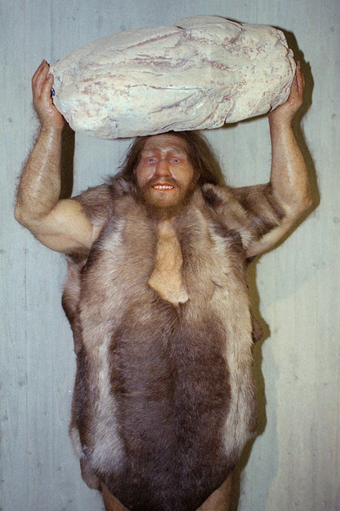 A replica of a Neanderthal man is seen at a museum in Mettmann, Germany. Neanderthals were among the first to regularly use fire for heat, light and cooking.
