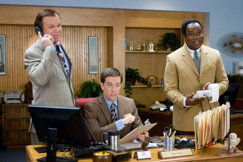 From left, John C. Reilly, Ed Helms and Isiah Whitlock Jr. in