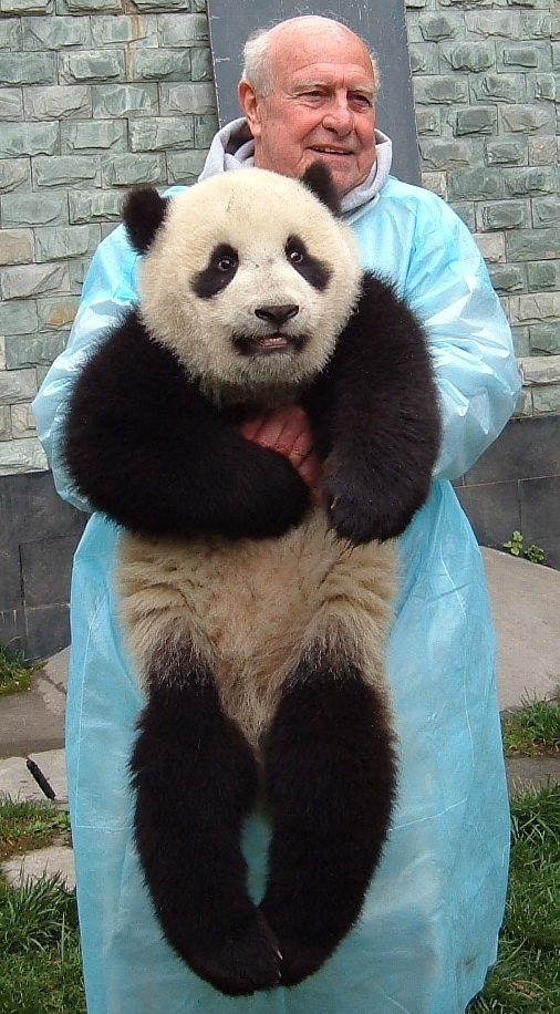 James Dodd at the Wolong, China, panda research center, where he and his wife volunteered in 2006.