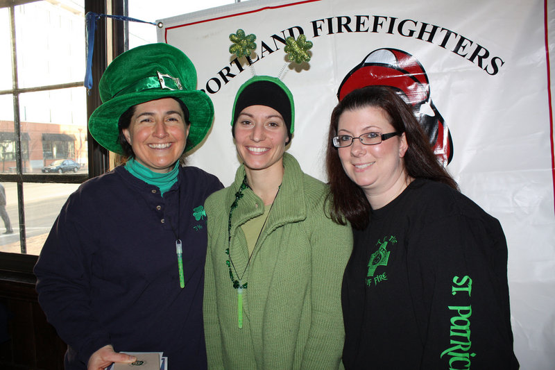 Lisa Petruccelli, who won the individual award for the most money raised, and volunteers Renee Towne and Gabby Petruccelli.