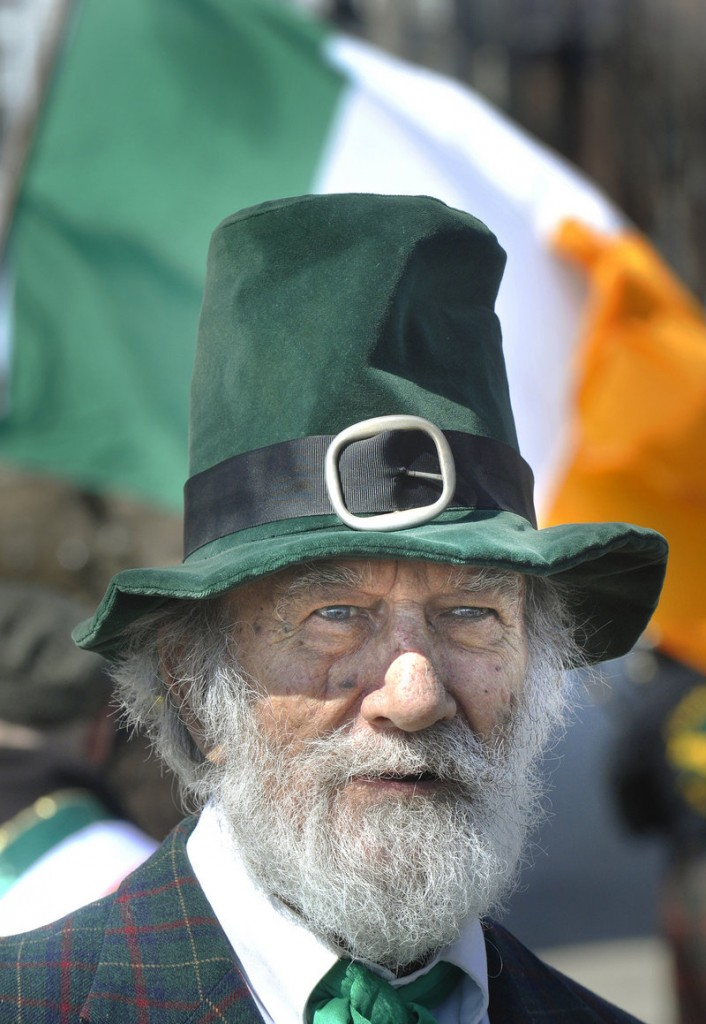 Normand Provost dressed in his Irish finest to take part in the annual event.