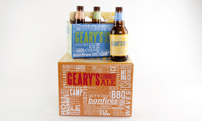 Geary's Summer Ale comes with a design that tells what summer is all about thanks to Morgan DiPietro.