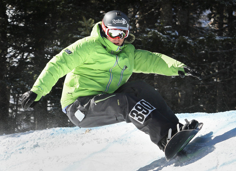 Seth Wescott, the Olympic gold medalist, finished third Saturday in the first Sugarloaf Banked Slalom. Wescott crashed twice on his first run, then took it a little easier in the second run but made it through. The event drew 141 competitors ranging from ages 7 to 59.