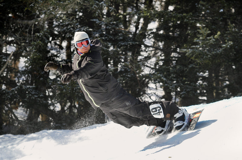 Ross Powers of Stratton, Vt., a gold medalist in the 2002 Olympics, did defeat Seth Wescott and ended up as the overall champion in the snowboarding event.