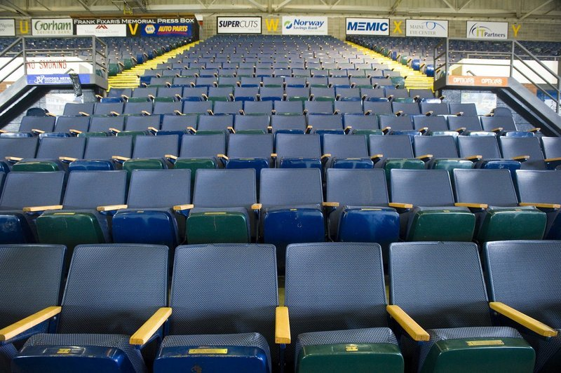 Proposed civic center renovations include replacing current furnishings with premium seating.