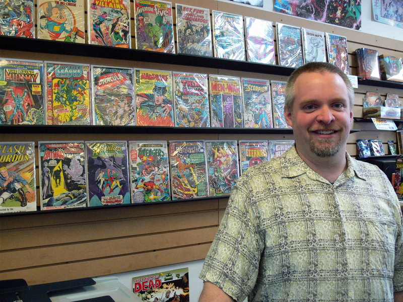 Casablanca Comics manager and Windham resident Matt Beckwith has greeted customers for two decades.