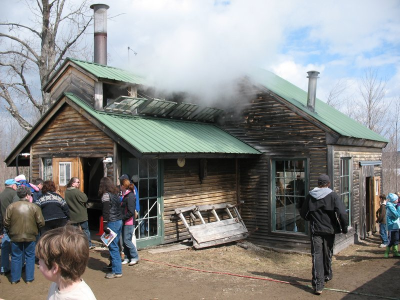The sugar house at Megquier Hill Farm in Poland will be hopping on Sunday.