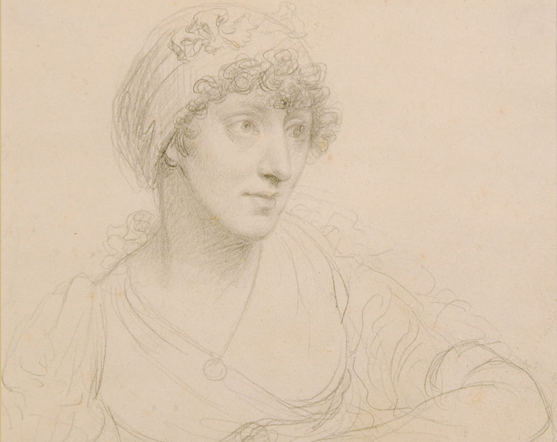 """Mind to Hand: Drawings from the Farnsworth,"" which includes John Trumbull's circa 1803 pencil ""Portrait of the Artist's Wife,"" continues through April 3 at the Farnsworth Art Museum in Rockland."