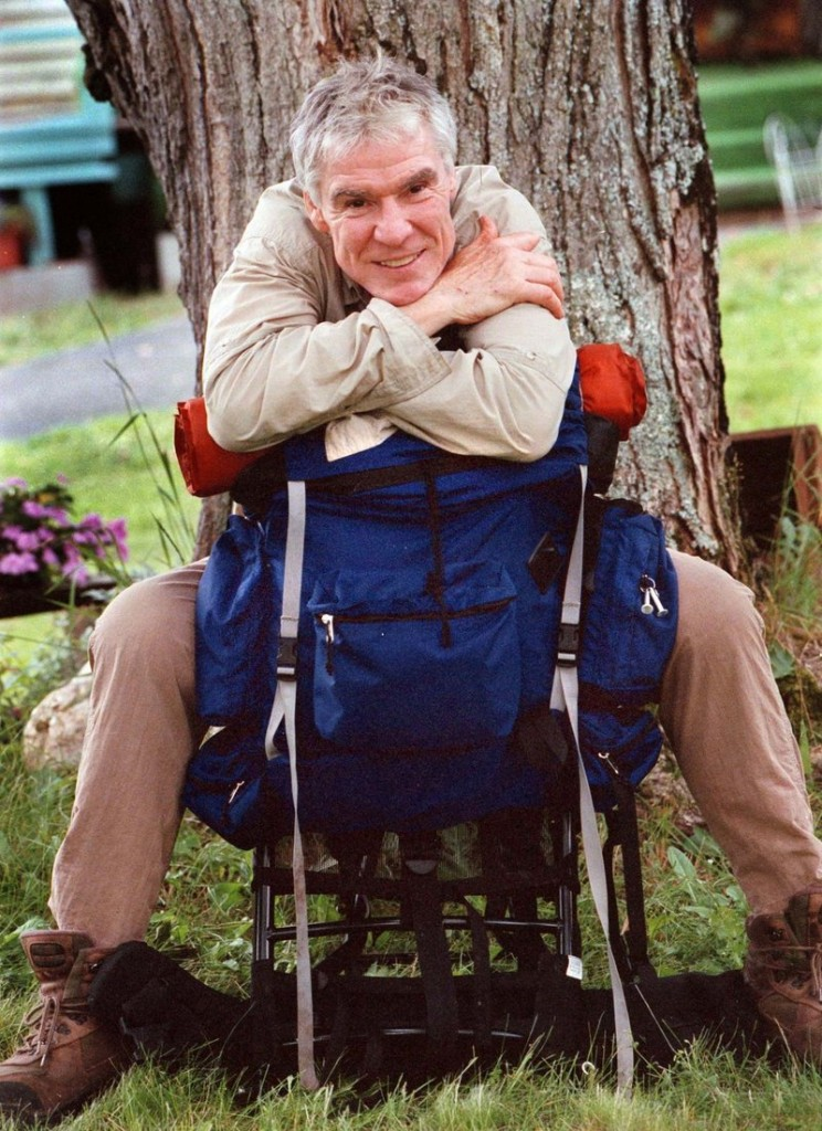 Jacques d'Amboise was photographed in 1999 in Andover as he made ready to hike the Appalachian Trail to raise funds for his National Dance Institute.