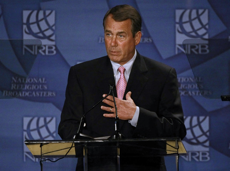 House Speaker John Boehner, R-Ohio, is facing a choice on spending that could define his leadership.