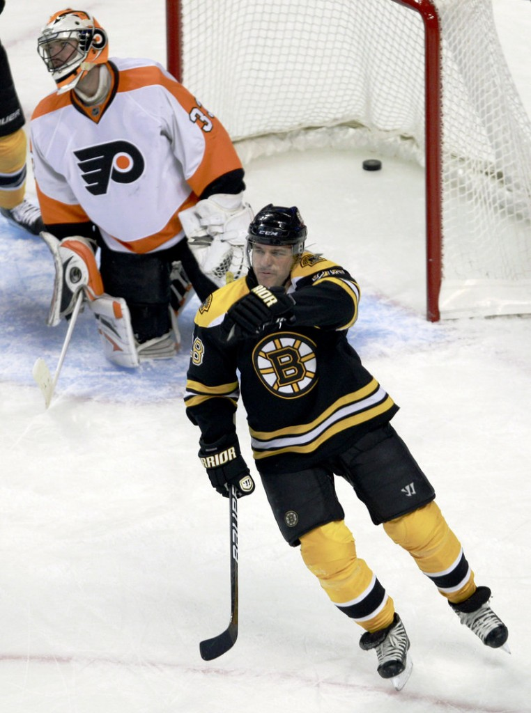 Mark Recchi has provided the veteran leadership the Bruins were looking for when they signed him in their 2009 stretch run, but at 43, his youthful outlook has been an unexpected bonus.