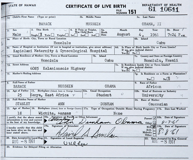 Obama releases birth certificate,hoping to end 'silliness ...