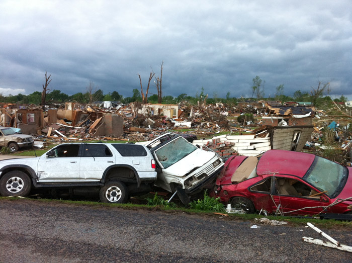 Devastation in the aftermath of a tornado that flattened Pleasant Grove, Ala.