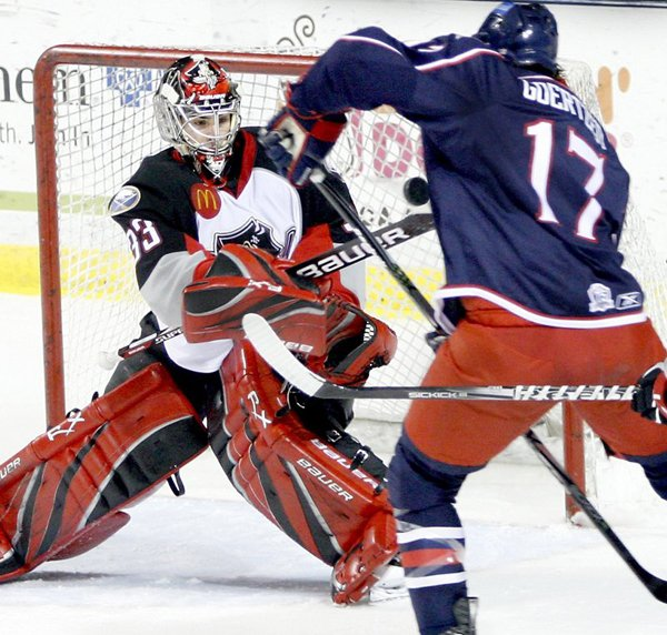 David Leggio of the Pirates has piled up more minutes in the AHL playoffs than any other goalie while compiling a 2.93 goals-against average filling in for Jhonas Enroth.