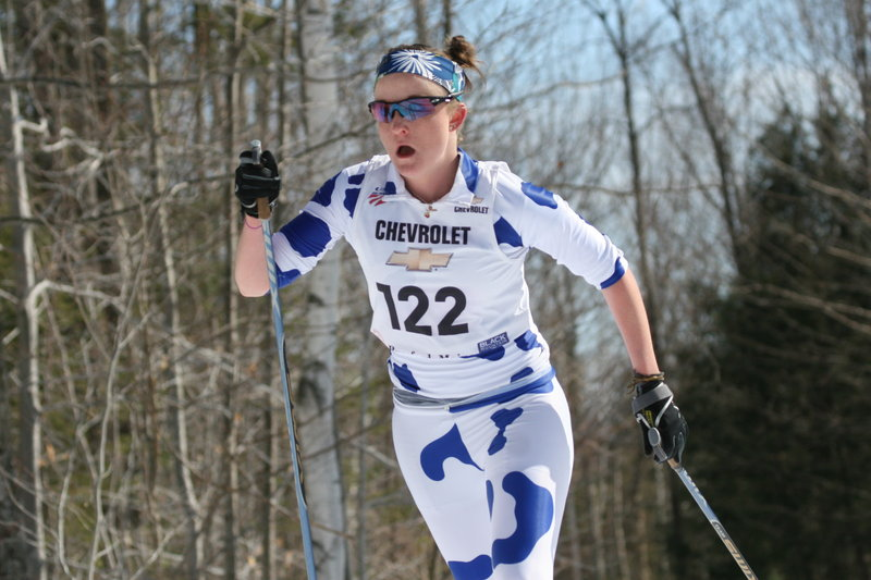 Becca Bell of Yarmouth was a repeat winner of the Class B skimeister award, placing among the top 10 in slalom, giant slalom, freestyle and classic.