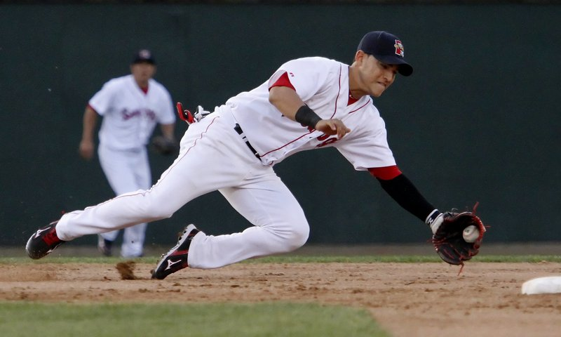 Jose Iglesias moves up to Triple-A Pawtucket this season after displaying his considerable talents as the Sea Dogs shortstop last season.