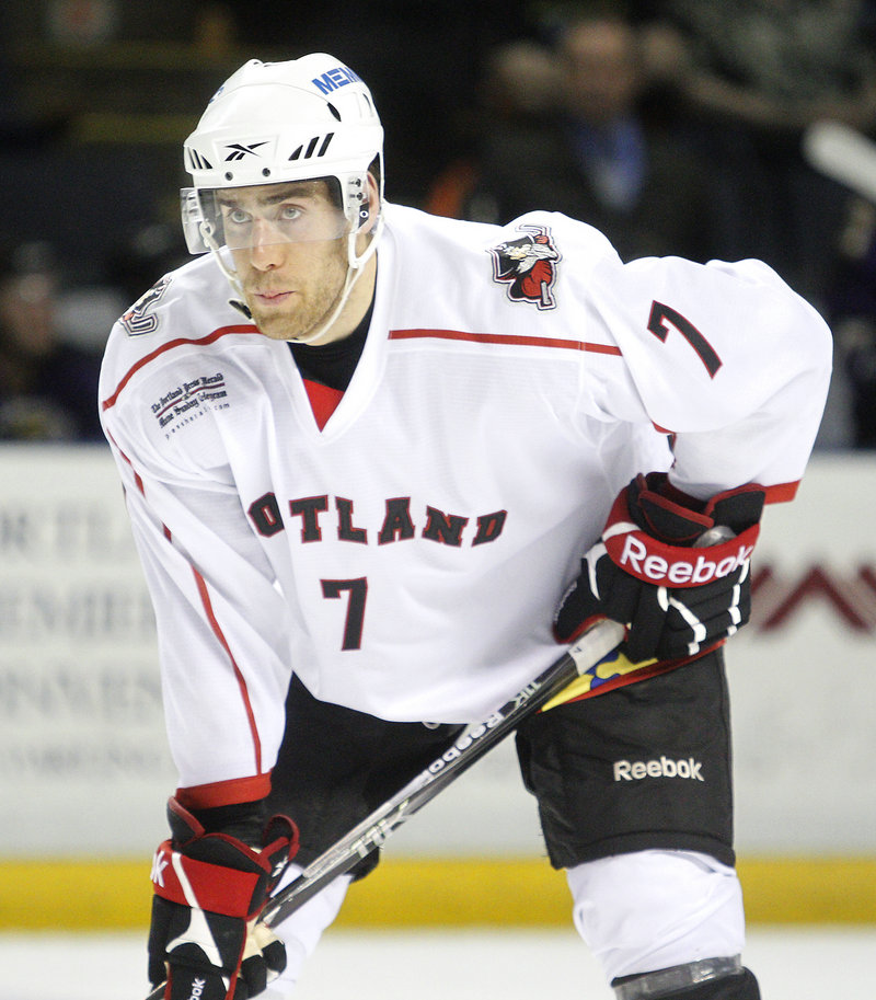 Defenseman Jeff Dimmen took the Portland Pirates' offer of an amateur tryout as a next step after his career at UMaine. Dimmen sees the tryout as a chance to earn a pro contract.
