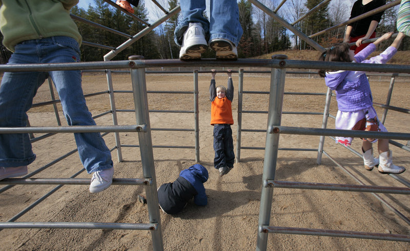 Children, like these at play during recess, would be put at risk if the Legislature allows pesticides to be used on Maine school grounds, a letter writer says.