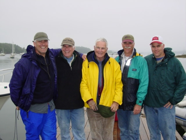 Richard E. Whiting is shown with his four sons. Mr. Whiting died Friday in Rockport at 79.