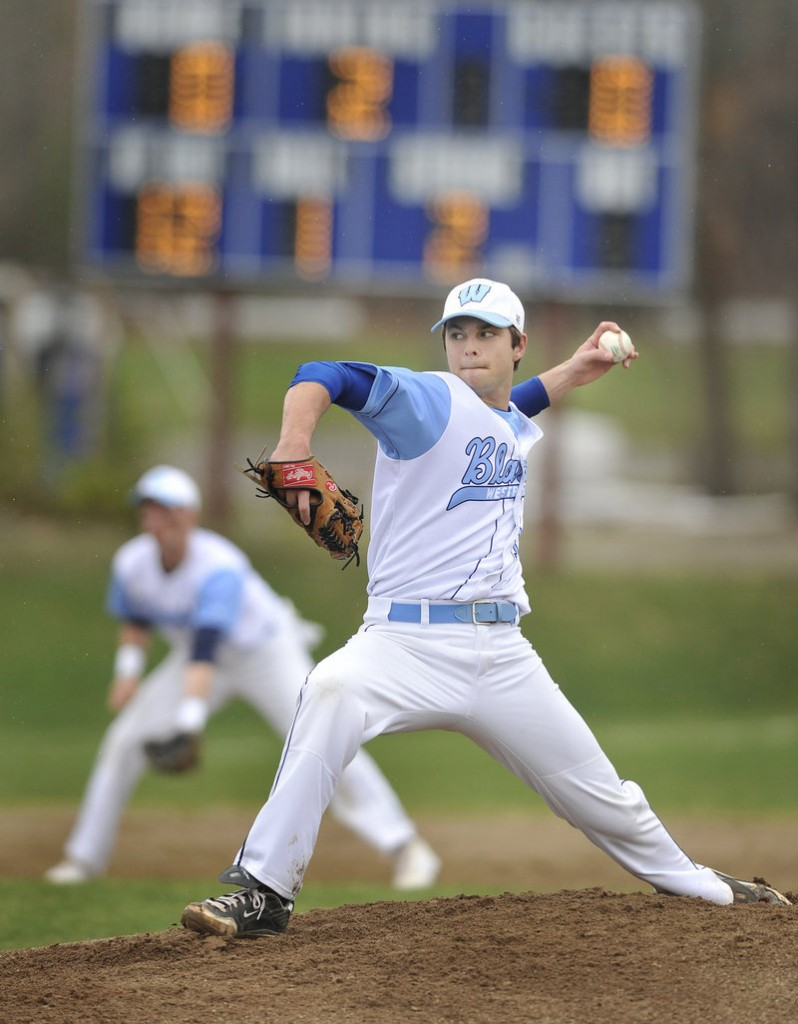 Scott Heath says he expects the velocity to return to his pitches by midseason, but on Monday his curve was working just fine. Heath gave up one hit and struck out 14 Windham batters in a 3-0 win.
