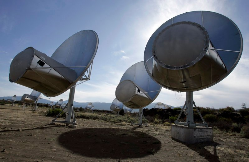 The 42 radio dishes at the Allen Telescope Array in Hat Creek, Calif., had scanned the universe since 2007 for signs of alien life. The dishes have been shut down due to a steep decline in federal and state funding, the SETI Institute said this week.
