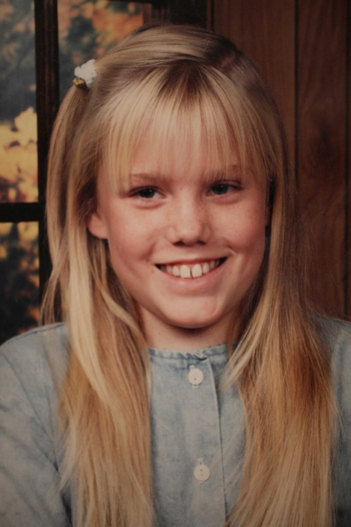 Jaycee Dugard, near the age when she was kidnapped
