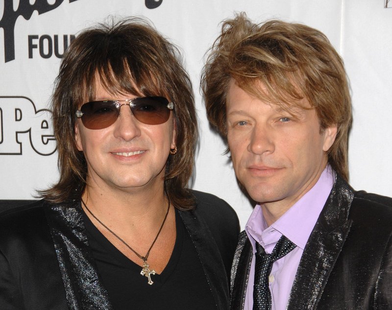 Richie Sambora, left, and Jon Bon Jovi