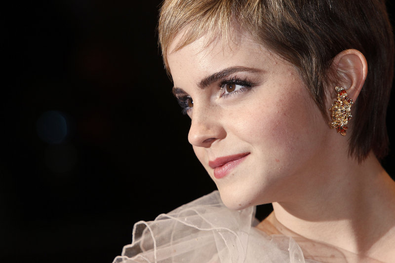 """Emma Watson, seen in London at the BAFTA Film Awards this year, says she """"was never bullied in my life and certainly never at Brown."""" The actress has announced she will not return to the university for her third year."""