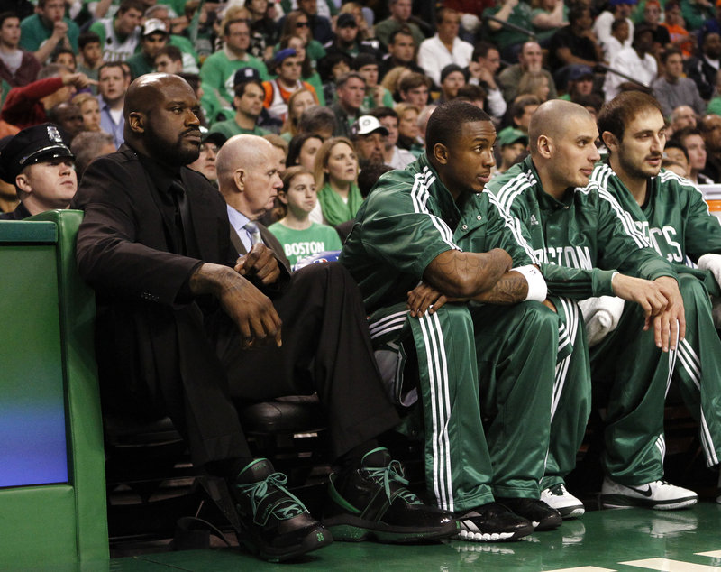 Shaquille O'Neal has done more than his share of watching from the bench for the Boston Celtics. He's hoping to be back on the court in the series against the Miami Heat.