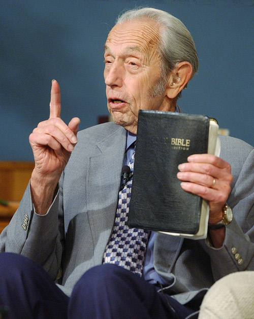 Harold Camping, in a 2002 file photo.