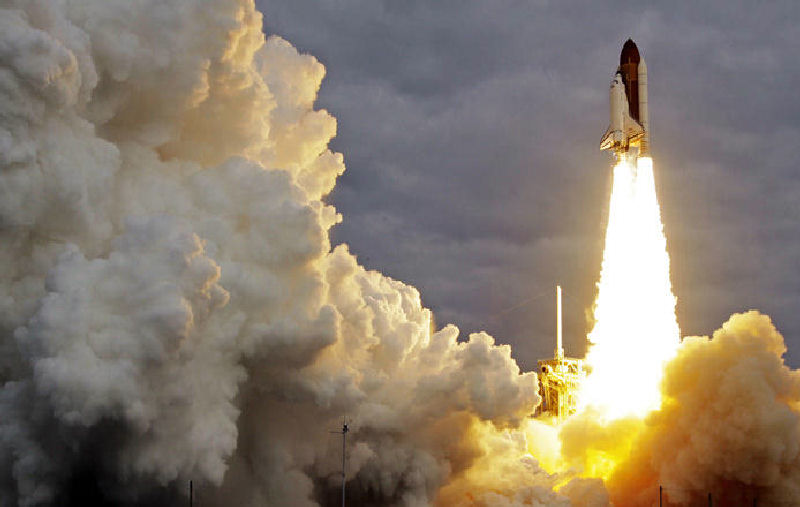 The shuttle Endeavour's final flight this month signals a pending change in the international space race.