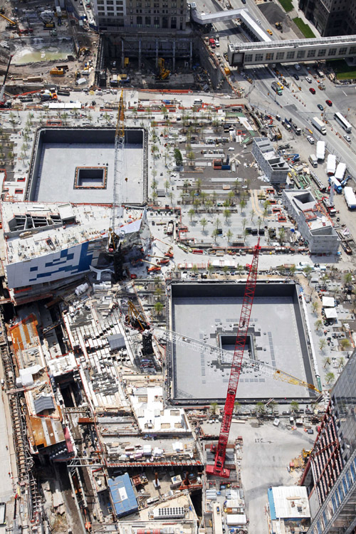 The National September 11 Memorial and Museum is under construction at the World Trade Center site in New York. The memorial is scheduled to open to the public in time for the 10th anniversary to be held Sept. 11, 2011.