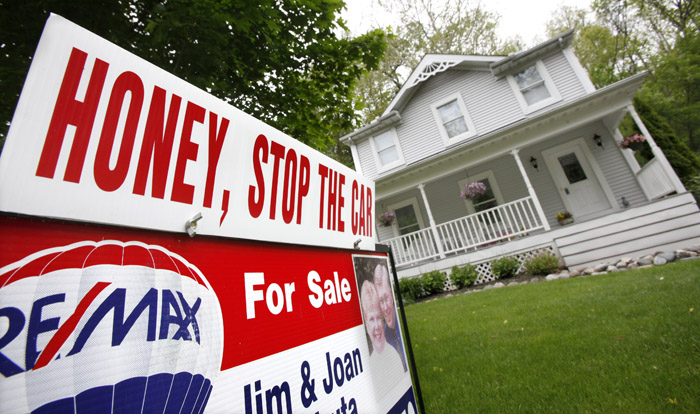 A home for sale recently in Chagrin Falls, Ohio. Home prices have reached their lowest points since the housing bubble burst in 2006, driven down by foreclosures, a glut of unsold homes and the reluctance or inability of many to buy.