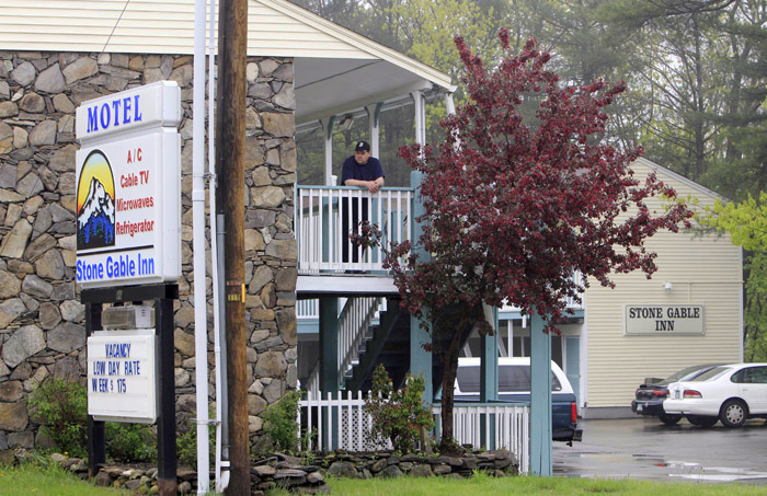 A photo taken today of the Stone Gable Inn in Hampton, N.H. Authorities are investigating whether 6-year-old Camden Hughes, who's body was found on a remote road in South Berwick, Maine, was killed at the hotel.
