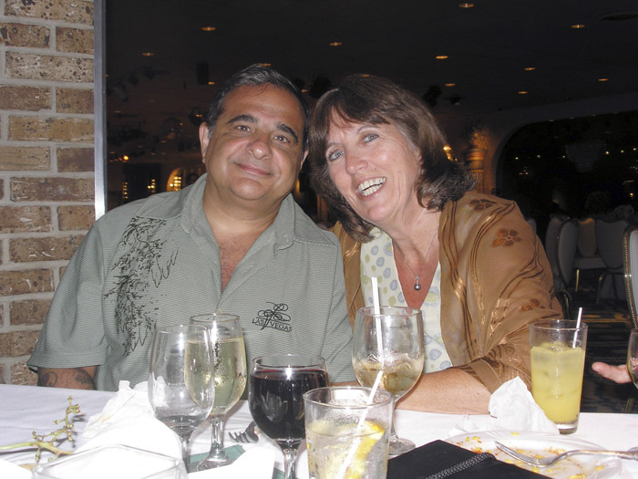John Valentino, 57, left, and wife Debbie Deborah Martinez, 54, met online two years ago.