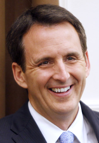 Former Minnesota Gov. Tim Pawlenty appears at the Nashua Area Republican Committee meeting in Nashua, N.H., in this April 14, 2011, photo.