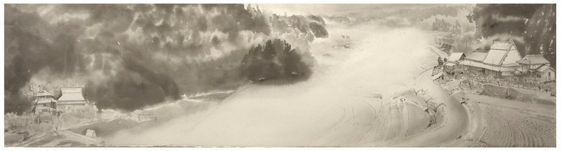 Ouda in Mist by Brian Shure, 2002, ink on paper, courtesy of the artist/Katharina Rich Perlow Gallery, N.Y.