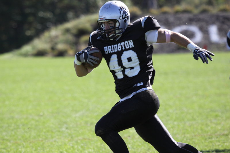 Jon Day of Gorham, a tight end on the Bridgton Academy football team, received the scholar-athlete award from the Maine chapter of the National Football Foundation and College Hall of Fame.
