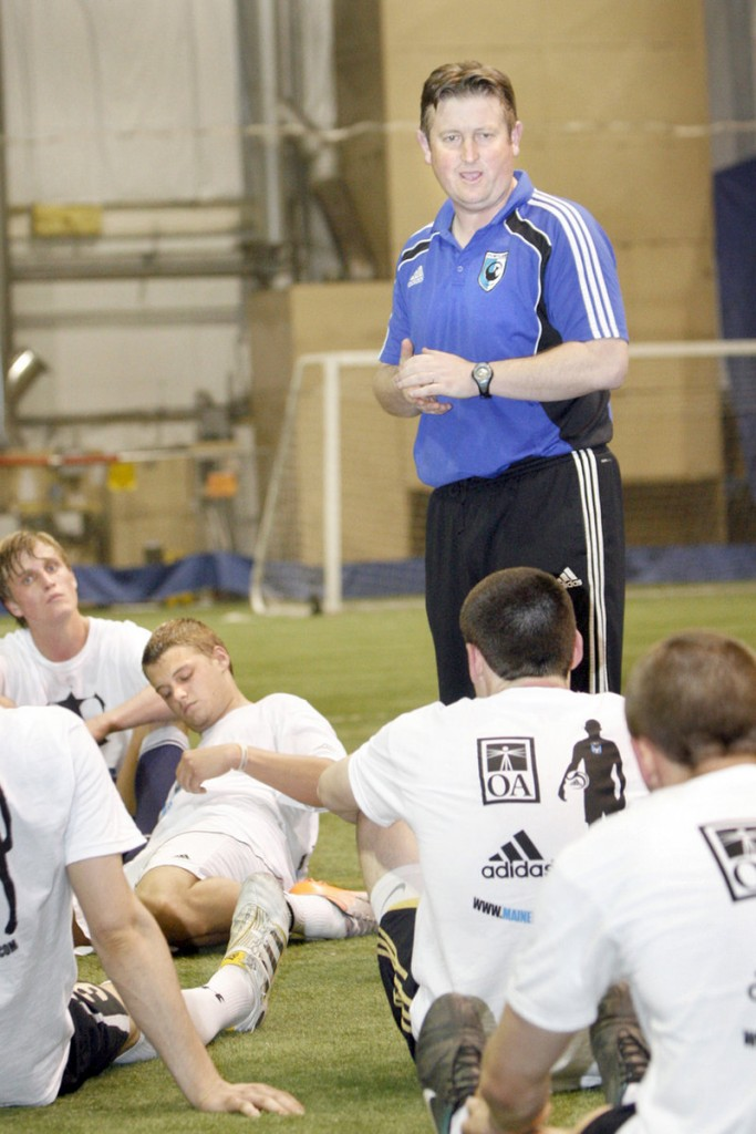 Coach Paul Baber will lead the Phoenix into their second PDL season with a game at 6 tonight at Deering High.