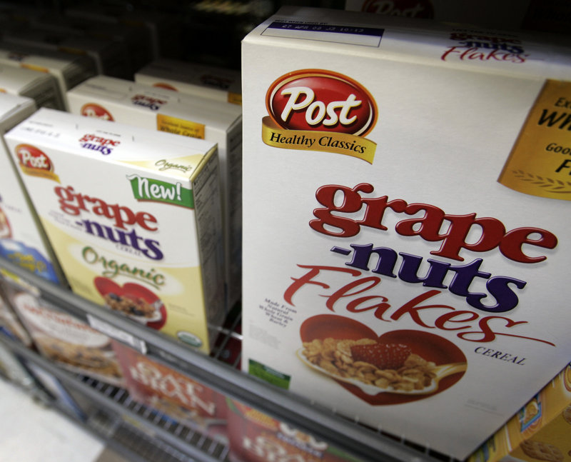Ralcorp Holdings Inc. makes Post cereals and store-brand products such as pasta, snacks and bakery goods.