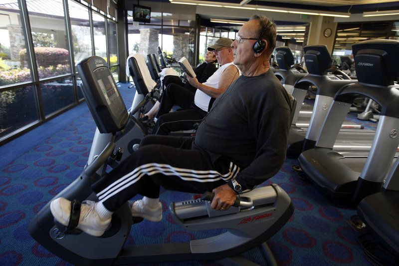 Fred Bandarrae works out in Lincoln Hills, Calif. The Sun City retirement community offers a fitness center, swimming pool and an array of courses.