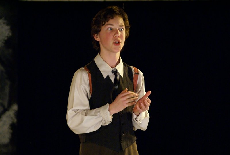 """Dylan Chestnutt, 15, in """"Spring Awakening."""" Director Christine Louise Marshall says he has created a character who is """"both hilarious and heartbreaking."""""""