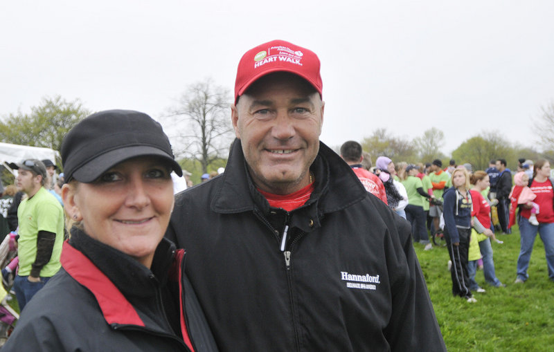 Gail and Bob Hatem of Scarborough were the top Southern Maine Heart Walk fundraisers, gathering about $8,000.