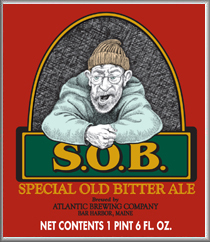 Special Old Bitter from Atlantic Brewing Co., or S.O.B., is more of a nut brown ale than an IPA.